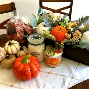 Fall Home Decor Bundle! Candles + Pumpkins + More!